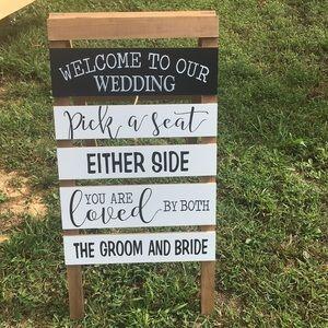 Wedding Greeting Sign